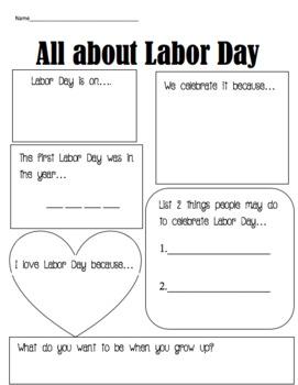 Labor Day Worksheet