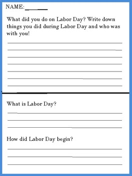 Labor Day Worksheets | Community Helpers | Puzzles/Coloring | MUCH MORE |