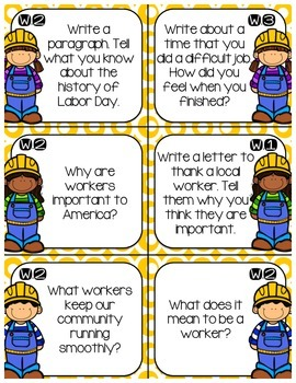Labor Day Writing Center Bundle {#TeacherMom}