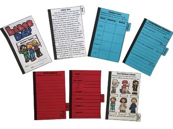 Labor Day Flip Book Activities- 2nd & 3rd grade