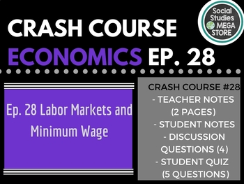 Labor Markets and Minimum Wage: Crash Course Economics Ep. 28