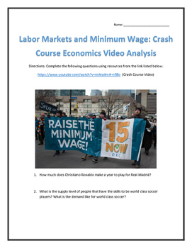 Labor Markets and Minimum Wage: Crash Course Economics- Video Analysis with Key