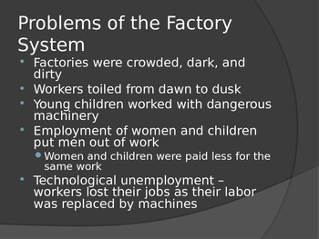 Labor Movement of The Industrial Revolution