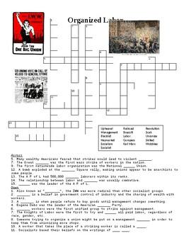 Labor Realtions Crossword Puzzle or Web Quest