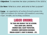 Labor Reforms of the 1930's PowerPoint Presentation