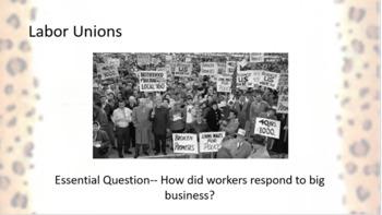 Labor Unions -- Gilded Age