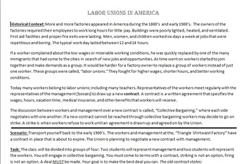 Labor Unions Simulation