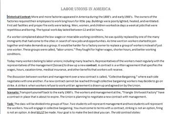 Labor Unions Simulation