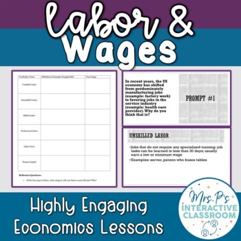 Labor & Wages Speed Dating Economics Lesson!