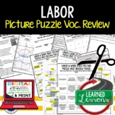 Labor and Work Force Picture Puzzle, Test Prep, Unit Review, Study Guide