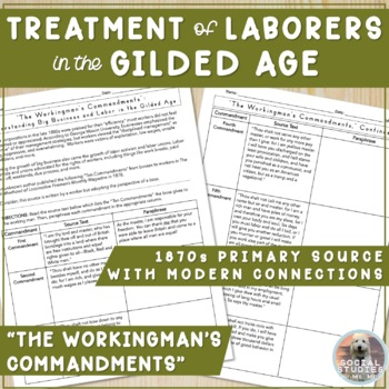 Labor in the Gilded Age: Primary Source Analysis