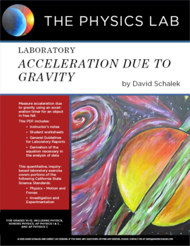 Laboratory: Acceleration Due To Gravity