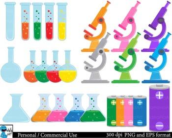 Laboratory Digital Clip Art Graphics - 97 images cod96