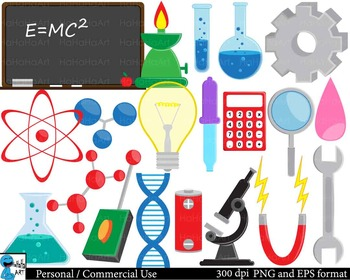 Laboratory Digital Clip Art Graphics - 97 images cod96