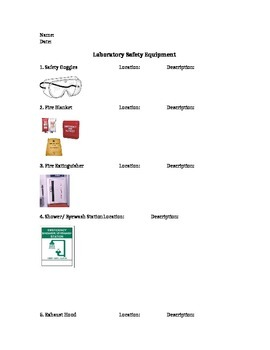 Laboratory Equipment Handout