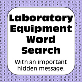 Lab Equipment & Science Tools: Laboratory Equipment Word Search