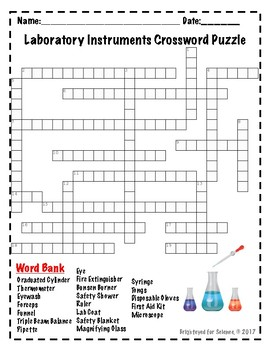 Laboratory Instruments Crossword Puzzle