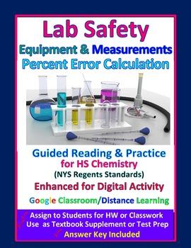 Lab Safety, Equipment, Percent Error:  Essential Skills Lesson Bundle