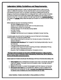 Laboratory Safety Guideline Acknowledgement Sheet