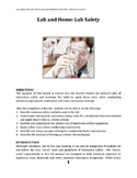 Laboratory Safety Rules for Home-Labs