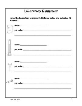 Laboratory Safety Workbook - Grade 8
