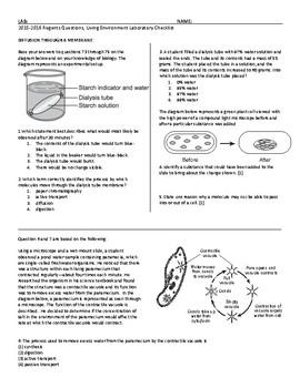 Laboratory Skills / Mandated Labs Living Environment Regents Review