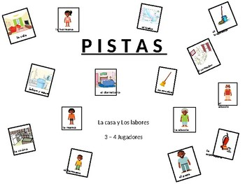 """Labores Pistas - """"CLUE"""" game for house and chores"""