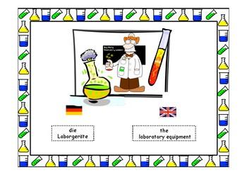 Laborgeräte / laboratory equipment -Montessori flash cards for science/chemistry