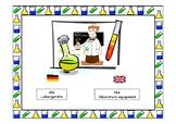 Laborgeräte / laboratory equipment -Montessori flash cards