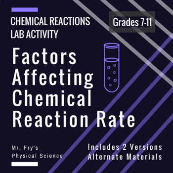 Labs: Investigating Chemical Reaction Rates  HS-PS1-5