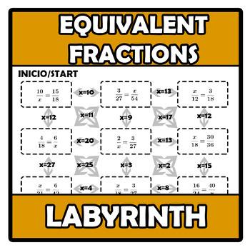 Labyrinth - Laberinto - Equivalent fractions - Fracciones equivalentes