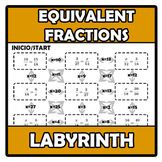 Labyrinth - Laberinto - Equivalent fractions - Fracciones