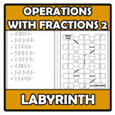 Labyrinth - Laberinto - Operations with fractions 2 - Oper