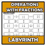 Labyrinth - Laberinto - Operations with fractions - Operac