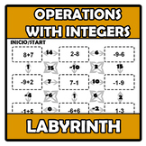 Labyrinth - Laberinto - Operations with integers - Operaci