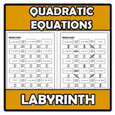 Labyrinth - Laberinto - Quadratic equations - Ecuaciones d