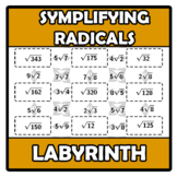 Labyrinth - Laberinto - Simplifying radicals - Simplificac