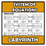 Labyrinth - Laberinto - System of equations - Sistemas de