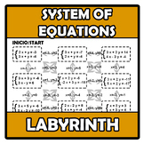 Labyrinth - Laberinto - System of equations - Sistemas de