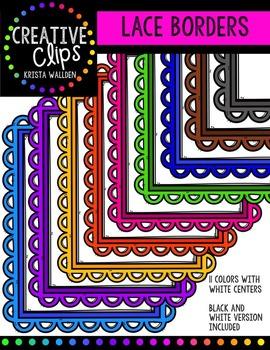 Lace Borders {Creative Clips Digital Clipart}
