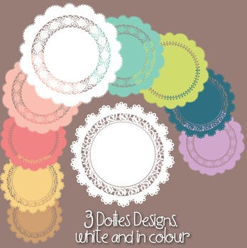 Lace Borders, Frames & Doilies Clipart - Small Commercial Use