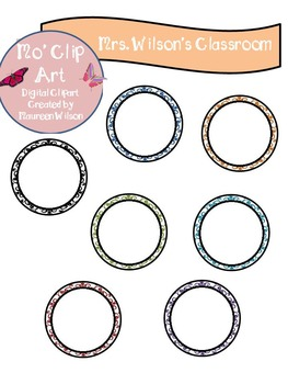 Clip Art Lace Circle Frames (Shapes)