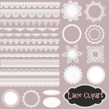 Lace Doily Clip Art Lace Frame Lace Border Element White Lace Clip Art