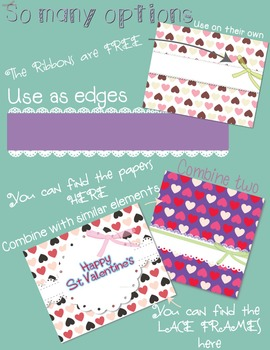 Lace Labels Lace Borders - St Valentines Day clip art
