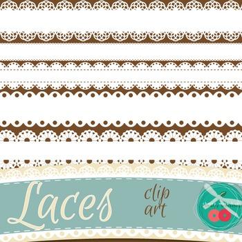 Lace Labels Lace Borders - St Valentines Day clip art