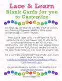 Lace & Learn Cards for you to Customize