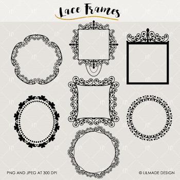 Lace frames clipart