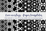 Lace overlays, lace paper templates