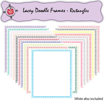 Lacey Doodle Frames - Rectangles