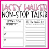 Lacey Walker Non-Stop Talker / Read Aloud Book Companion